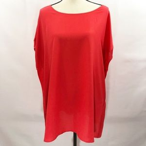 Michael Kors bright Red Oversized Blouse -XL